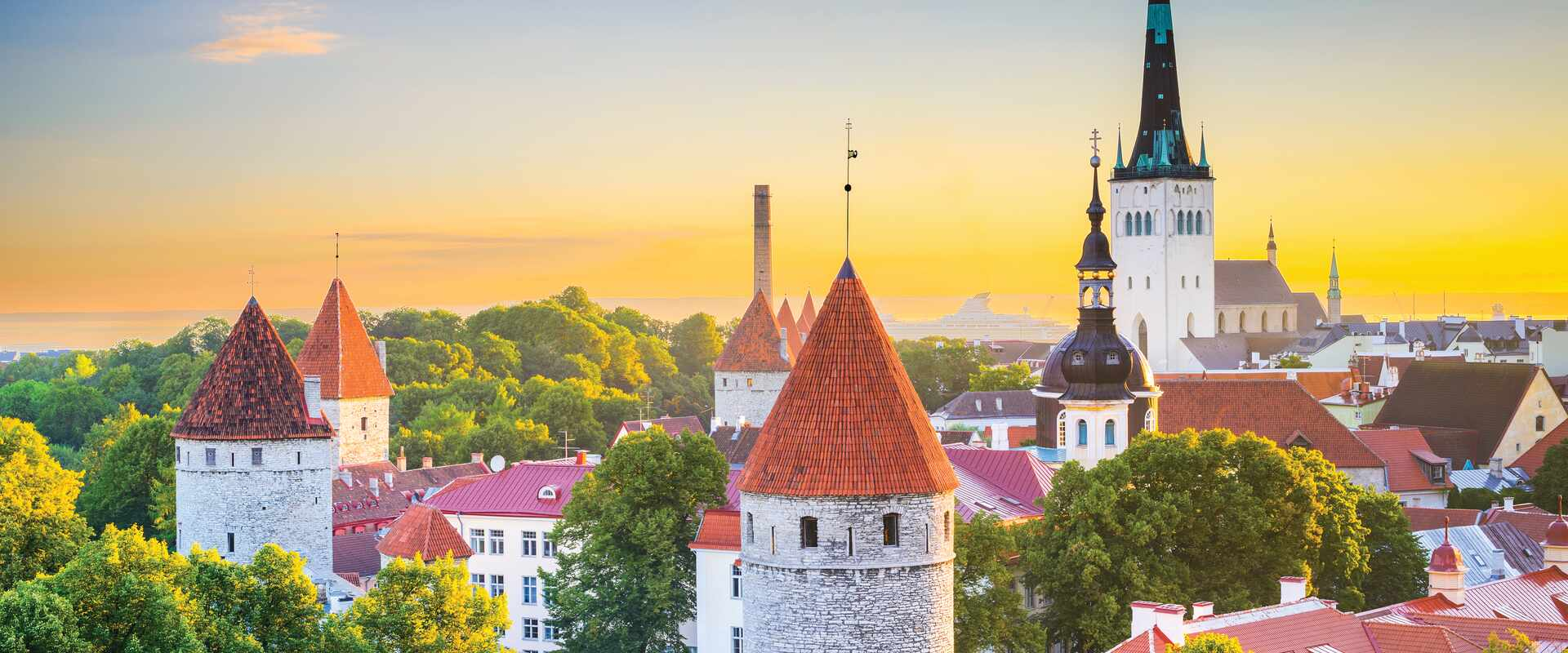 View of Tallinn Old Town, Estonia