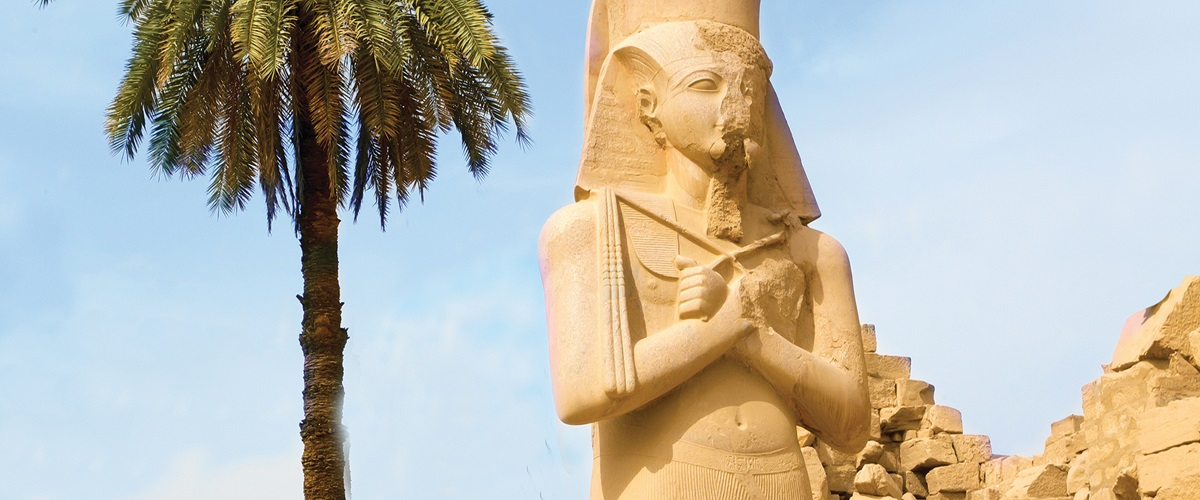 Karnak Temple Egypt - Statue of Ramesses