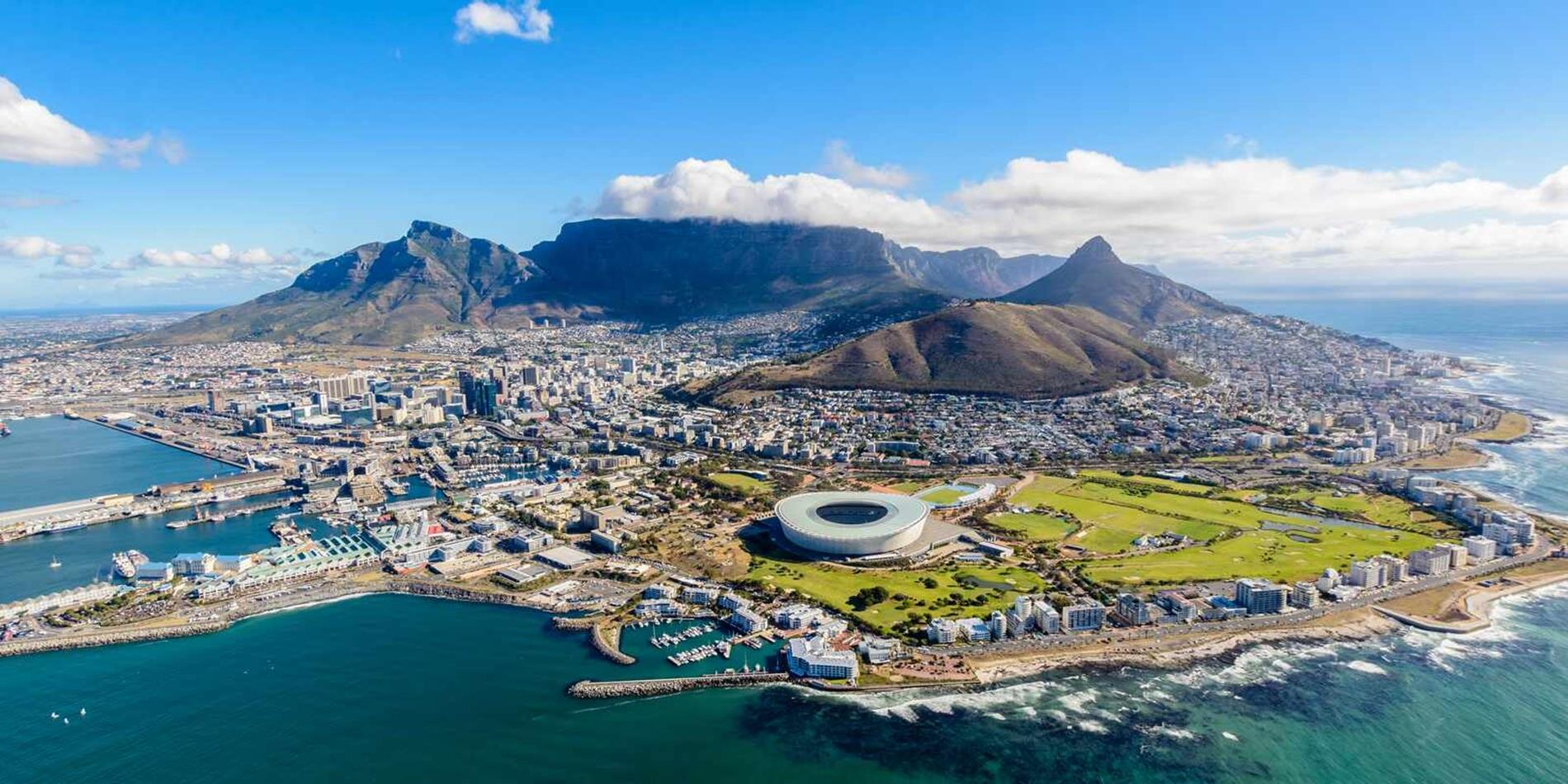 View of Cape Town from above, South Africa