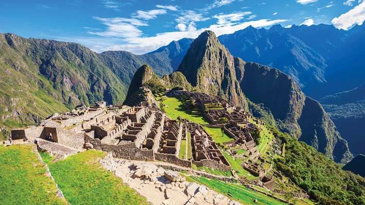 View across the ruins of Machu Picchu